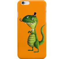 Sir T-rex with Fancy Mustaches iPhone Case/Skin