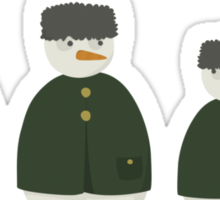 Russian Snowmen Sticker