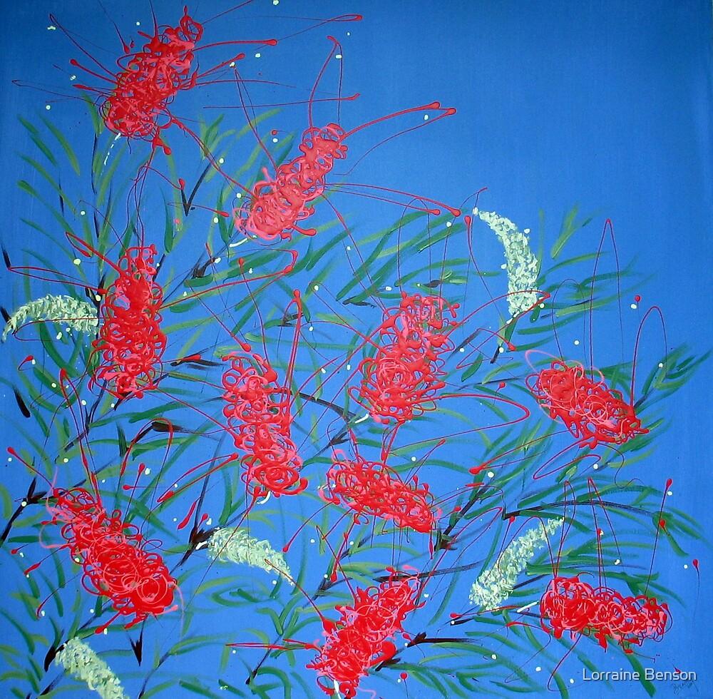 Red Grevillea by Lorraine Benson