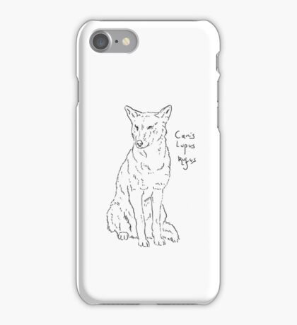Canis Lupus Rufus - Red Wolf iPhone Case/Skin