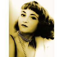 Woman retro portrait stylish photo Photographic Print