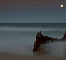 Yellow Moon Dicky Beach by AdamDonnelly