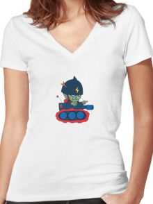 Go Zombie Go! Women's Fitted V-Neck T-Shirt