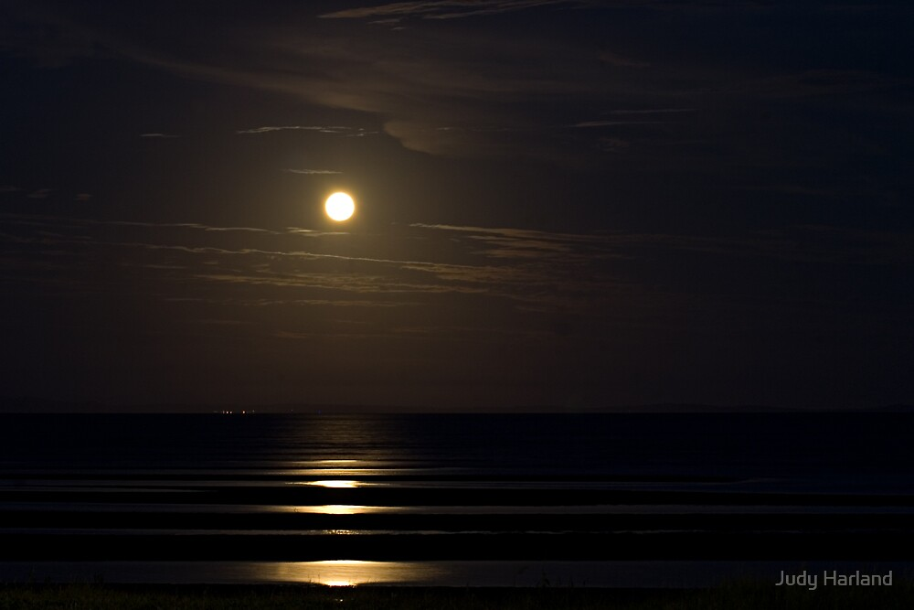 Brighton Moonrise by J Harland