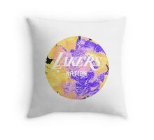 Lakers Nation Throw Pillow