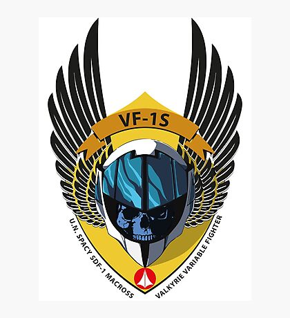 VF-1S VALKYRIE VARIABLE FIGHTER SHIELD Photographic Print