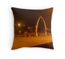 Whale Bones By Night Whitby Throw Pillow