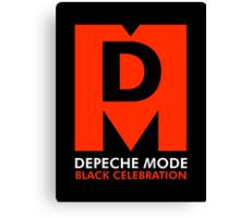 Depeche Mode : Black Celebration Logo Canvas Print
