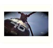 Dad's Chinook Helicopter CH-46 Art Print