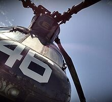 Dad's Chinook Helicopter CH-46 by JodiErin