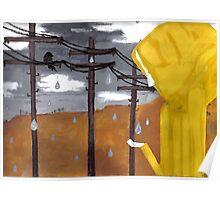 the yellow raincoat Poster