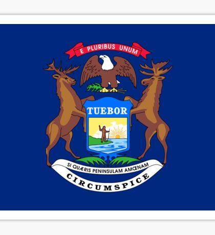 Michigan Flag Sticker Sticker