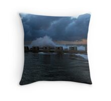 Merewether Baths at Sunrise Throw Pillow