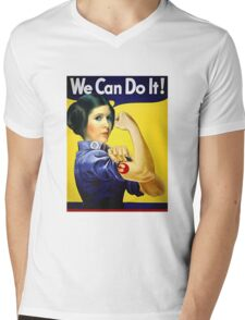 we can do it Mens V-Neck T-Shirt