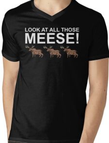 Look At All Those Meese! Mens V-Neck T-Shirt