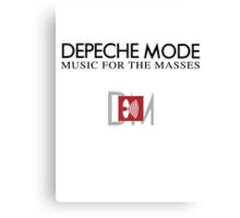 Depeche Mode : Music For The Masses Logo 2 Canvas Print