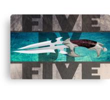 5 by 5 - Faith - Buffy the Vampire Slayer Canvas Print