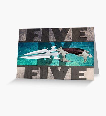 5 by 5 - Faith - Buffy the Vampire Slayer Greeting Card
