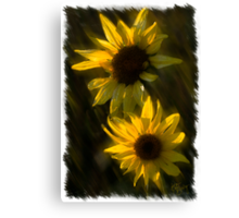 SUNFLOWERS TOGETHER Canvas Print