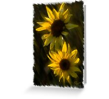 SUNFLOWERS TOGETHER Greeting Card