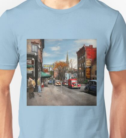 City - Amsterdam NY - Downtown Amsterdam 1941 Unisex T-Shirt