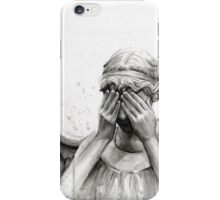 Doctor Who Weeping Angel - Don't Blink! iPhone Case/Skin