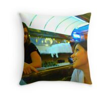 Diner Nights Throw Pillow