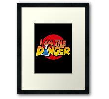 I Am the Danger Framed Print