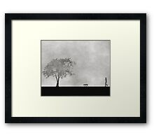 A walk in the fog..... Framed Print