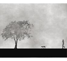 A walk in the fog..... Photographic Print