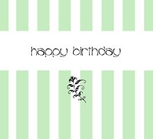 Mint Candy Stripes Birthday by Mariana Musa