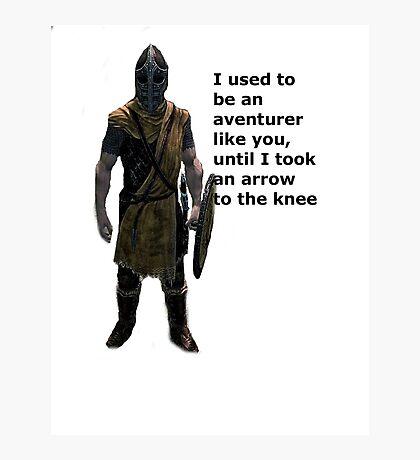 Whiterun Guard Quote Photographic Print