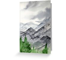 Mountain Landscape Painting over New Mexico Greeting Card