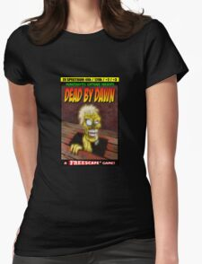 Dead by Dawn ZX Spectrum Game Inlay Art (official) Womens Fitted T-Shirt