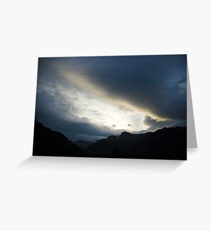 Clouds at dusk Greeting Card