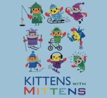 Kittens with Mittens Kids Tee