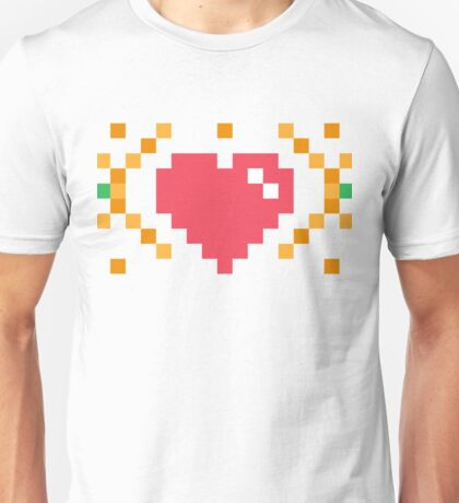Red Heart in 8 Bits Unisex T-Shirt