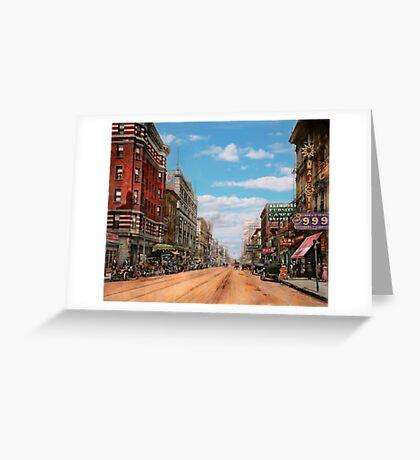 City - Memphis TN - Main Street Mall 1909 Greeting Card