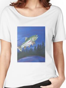 Jumping Rainbow Trout at Dusk Women's Relaxed Fit T-Shirt