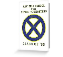 Xavier's School for Gifted Youngsters Greeting Card