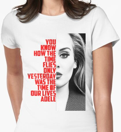 adele Womens Fitted T-Shirt