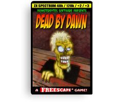 Dead by Dawn ZX Spectrum Game Inlay Art (official) Canvas Print