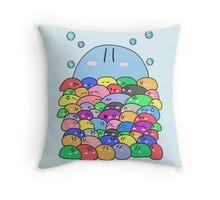 Blobopulous Throw Pillow