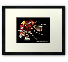 The World Is Nothing Without Art Framed Print
