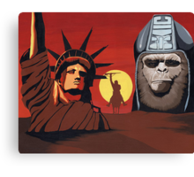 Planet of the Apes montage Canvas Print
