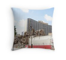 BUILDING OF YESTERDAY Throw Pillow