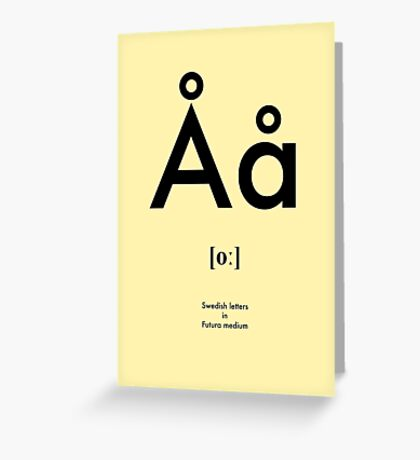 Swedish letter Å Greeting Card
