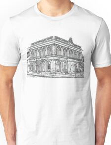 town building black Unisex T-Shirt