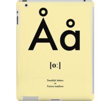 Swedish letter Å iPad Case/Skin