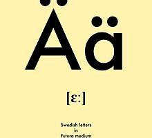 Swedish letter Ä by tokyo-kitsune
